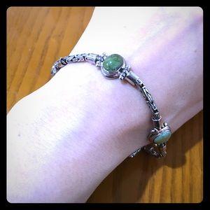 Vintage Silver & Gemstone Bracelet